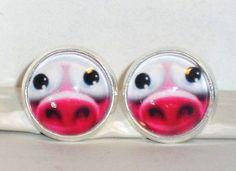 Ohrringe und Ohrstecker im Onlineshop - Verrückte Ohrringe und Schmuck Welt  - #Ohrstecker #Schwein Ohrringe Damen Ohrschmuck Modeschmuck ohne Stein Glas Neuware