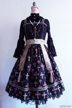 """† DIXMACABRE SEWING CHRONICLE †: """"Memories of Byzantium"""" Collection - Piece One - Gilded Jumperskirt"""