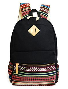 IBSound Casual Style Lightweight Canvas Laptop Backpack - Fashion Cute Travel School College Shoulder Bag / Bookbags / Daypack (Black) - for Teenage Girls / Students / Women - with Laptop Compartment IBSound http://www.amazon.com/dp/B00NLRW1RO/ref=cm_sw_r_pi_dp_RidSub1R03005