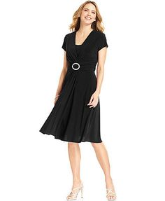 R&M Richards Cap-Sleeve Embellished Dress this could work for the LBD