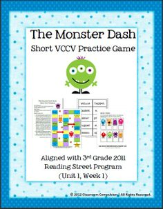 Classroom Freebies Too: Short VCCV Practice Game (Reading Street aligned)