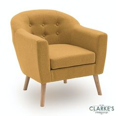 New accent chairs in the stock Mustard Chair, Upholstered Accent Chairs, Tub Chair, Contemporary Design, Armchair, Lounge, Living Room, Bedroom, Fabric