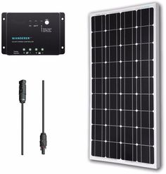 100W Solar Panel, Charge Controller, and Adaptor Bundle Kit  #Solar