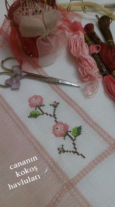 This Pin was discovered by Te. Butterfly Cross Stitch, Just Cross Stitch, Cross Stitch Flowers, Cross Stitch Embroidery, Cross Stitch Patterns, Needle And Thread, Pattern Design, Craft Projects, Crochet