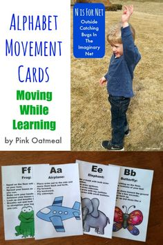 Alphabet Movement Cards - Pink Oatmeal