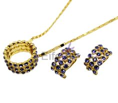 High Quality Alloy With Purple Rhinestone Bohemian Style jewelry sets