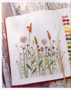 ♒ Enchanting Embroidery ♒ embroidered flower guide - Kazuko Aoki