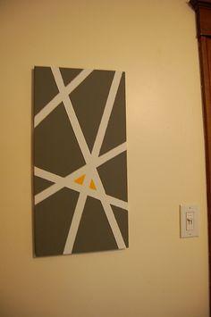 Canvas, Painters Tape, Paint.  Voila!