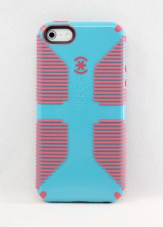 Speck-CandyShell-Grip-Hard-Shell-Case-for-iPhone-5-5S-Pool-Blue-Pink-USED-T35