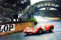 1967 Le Mans 24 - Ferrari 330 P4 - Ludovico Scarfiotti and Mike Parkes piloted their Ferrari to P2 behind the winning Ford GT40 mk IV of Foyt and Gurney at the legendary endurance race. #RedSeason #ScuderiaFerrari