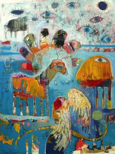 Jesse Reno - Fortune Teller #colorful #abstract #art