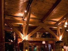 Image result for Glue laminated wood trusses Wood Truss, Wood Laminate, Construction, Cabin, House Styles, Image, Home Decor, Wood, Truffles