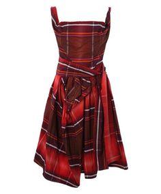Name: Anglomania Red Friday Check Taffeta Dress Release Year: A/W 2010 Colourway: Red Tartan Tartan Fashion, Look Fashion, Fashion Models, Womens Fashion, Tartan Mode, Jean Délavé, Cuir Vintage, Tartan Dress, Taffeta Dress