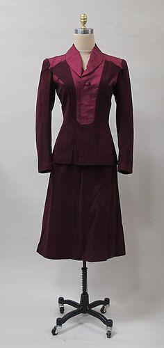 Charles James Suit  American  1939 Wool