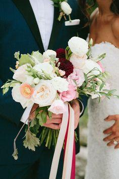 Joel Bedford Photography; Full Bloom Floral Ottawa; Organic Bridal Bouquet;