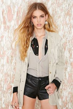 Vintage Moschino Drifter Suede Jacket
