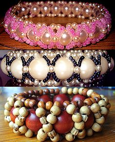 Seed bead bracelet but done with elastic rather than thread. #Seed #Bead #Tutorials