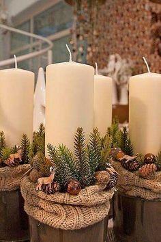 Rustic Christmas, Simple Christmas, Christmas Home, Christmas Holidays, Christmas Ornaments, Christmas Candles, Christmas Wedding, Christmas Stockings, Diy Home Crafts