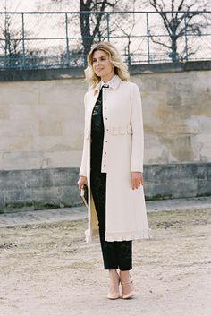cream tailored coat by valentino | photo by Vanessa Jackman