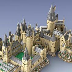 Harry Potter Dolls, Lego Harry Potter, Minecraft Architecture, Minecraft Buildings, Lego Hogwarts, Lego Universe, Wizard School, Lego Castle, Dragon Artwork