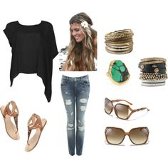 Def my style!!! Skinny jeans oversized off the shoulder shirt big glasses and sandals