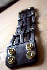 Leather Strap Bracelet- Leather Cuff Bracelet