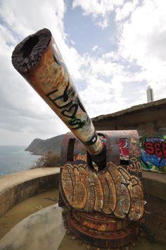 Cañon inactivo en la vieja batería de cabo Villano
