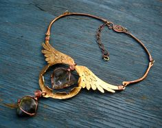Angel Diva Amulet by Silvia Peluso - See, this is why I MUST get into metalworking. I want to create awesome jewelry like that. OuO <3