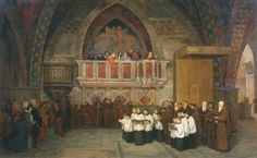 Mikhail Petrovich Botkin - Vespers in the Church of St. Francis in Assisi in, 1871