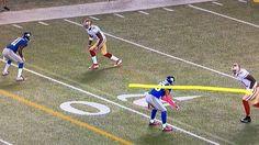 "Kap with a perfect throw ""drop in the bucket"" - #AnquanBoldin #ColinKaepernick @kaepernick7 @anquanboldin #BeatNYG #49ers #NFL"