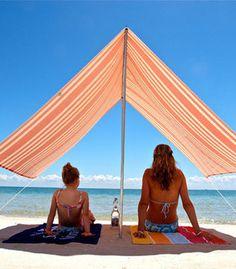 Beach Umbrella - Red Stripe