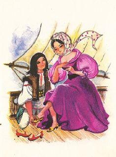Anemone: Coca Cretoiu - Ileana-Sanziana Illustrators, Fairy Tales, Folk, Fantasy, Watercolor, Drawings, Painting, Fictional Characters, Woods