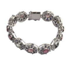 Summer Jewelry Link Bracelets Silver Tourmaline Gemstone 7.25 Inches: Jewelry: Amazon.com