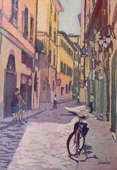 """Waiting Bike"" Florence by Jenny Armitage"