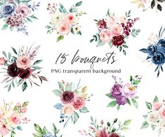 Advertise Your Business, Free Advertising, Print Templates, Watercolor Flowers, Beautiful Hands, Digital Illustration, Bouquet, Clip Art, Hand Painted