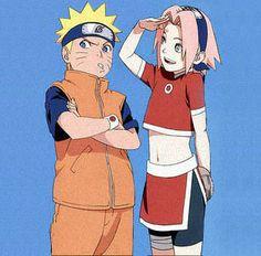 Naruto Uzumaki & Sakura Haruno. So cute!! #naruto #sakura