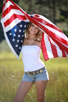 One of my country senior pictures with the American flag