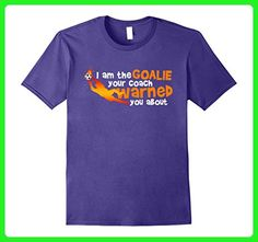 Mens Funny Soccer Goalie T Shirts Soccer Lover Gift Small Purple - Sports shirts (*Amazon Partner-Link)