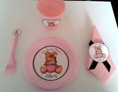 Puesto de mesa para Baby Shower http://www.facebook.com/crpentinas