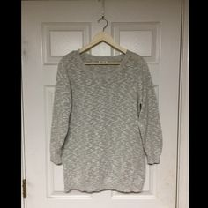 Gray Sweater Worn only once! The fabric is so comfortable and this sweater can be dressed up or down! Old Navy Sweaters