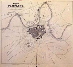 #Pamplona #Navarra. Pamplona en 1802. Mapa militar.