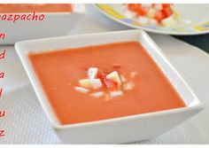 Gazpacho andaluz (Thermomix) My Recipes, Soup Recipes, Favorite Recipes, I Love Food, Good Food, Gazpacho Soup, Recipe Images, No Cook Meals, Food And Drink