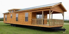 "This artistic, movable, 400 square foot ""log cabin 2 go"" by Gastineau Log Homes has a breath-taking exterior considering its size and mobility, which reflects that unique wooden attire of the typical log cabin we all know and love. It starts with a spacious front porch, then delves …"