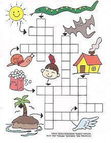 Spanish Lessons For Kids, Spanish Teaching Resources, Spanish Language Learning, Maze Worksheet, Phonics Rules, Kindergarten Math Worksheets, Math Literacy, Crossword Puzzles, Creative Teaching