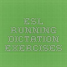 ESL Running Dictation Exercises