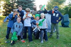 Nerf War Birthday Party Capture the Flag Game