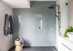 Real reno: The Stables' latest serene family home - The Interiors Addict Bathroom Style, Ensuite, Shower Room, Beautiful Home Designs, Bathrooms Remodel, Bathroom Decor, Beautiful Bathrooms, Bathroom Inspiration, Tile Bathroom