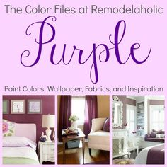 Best colors for your home - Purple! @Remodelaholic
