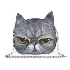 SUKUTU Women Girls Cute 3D Cat Face Crossbody Chain Purse... https://smile.amazon.com/dp/B01NBQWF5J/ref=cm_sw_r_pi_dp_x_QFHkzbGG335A7