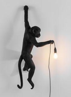 Applique Monkey Hanging / Outdoor - H 76,5 cm Noir - Seletti